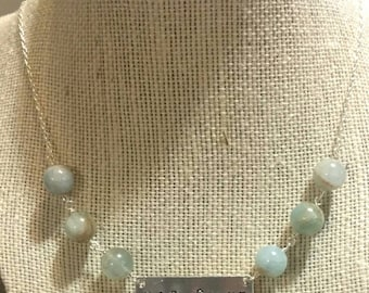 HopeGiant Aquamarine necklace