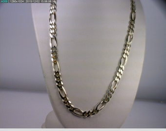 """Sterling Silver 24"""" Figuro Chain with Lobster Claw Clasp. (B4999)"""