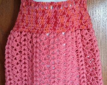 Puff stitch dress.