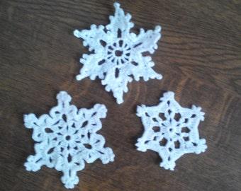 """Set of snowflakes """"Trio"""""""