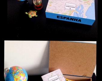 Box of travel memories
