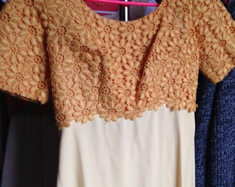 Vintage Poly Yellow Gown