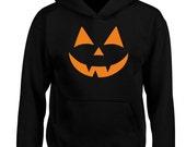 Halloween Originals Face Kids Unisex Halloween Hoodie (6 Colours)