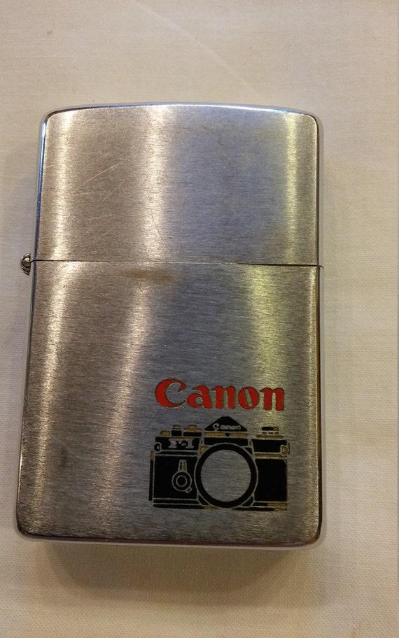 Vintage 1980 Advertising Zippo for Canon
