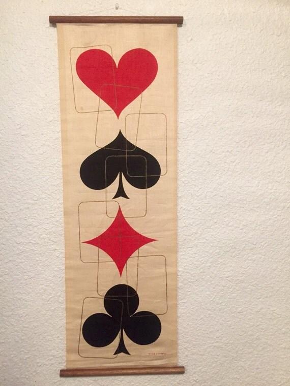Wall Decor Ross : Vintage ross littell wall hanging art work silkscreen