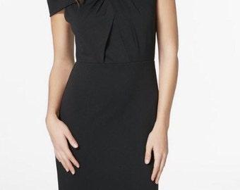 Off shoulder black dress, mini dress, women's clothing