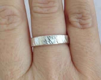 Mens Silver Ring, Hammered Silver Ring, Hammered Mens Ring, Silver Mens Ring, Silver Band, Wedding Band