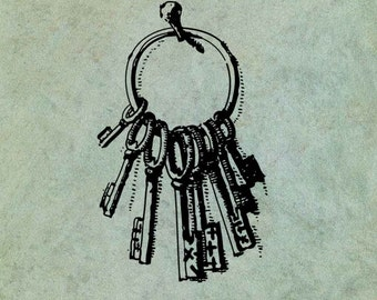 Keys to the Castle - Antique Style Clear Stamp