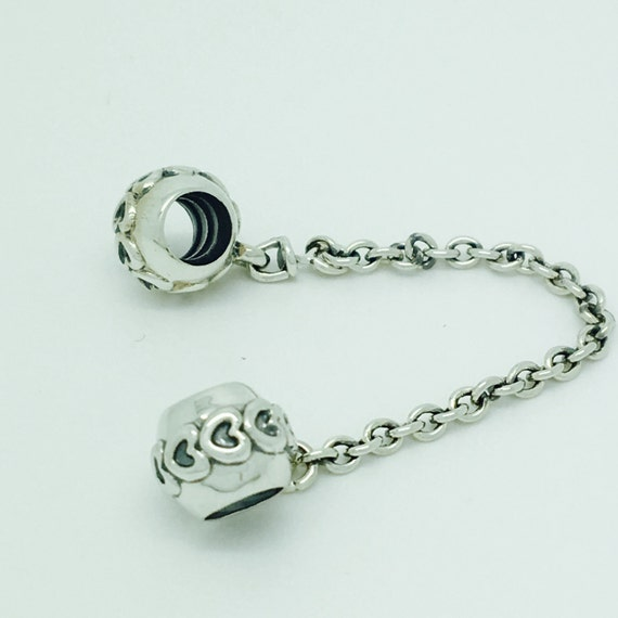 pandora charms hearts safety chain 791088 by charmsdirect