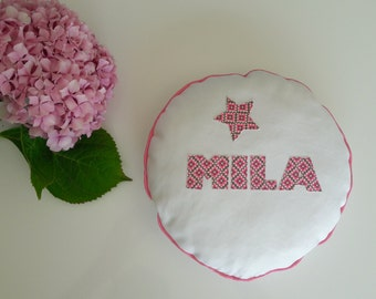 Pad name/password customizable, sweet decorating baby's room, child or any deco inside, so cute. Rose, mint, blue...