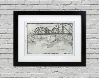 Androscoggin Bridge, Maine Limited Edition Print - Original Art