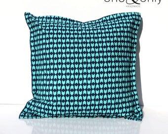 Envelope Cushion Cover - Aqua / Navy