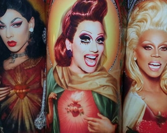 Bianca Del Rio of Drag Race  - Queens Celebrity Saint Prayer Candles