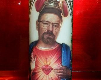 Walter White - Breaking Bad -  Celebrity Saint Prayer Candle