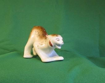 Statuette lynx, cat figurine, sculpture lynx, doll cat, wild cat, animal figurines,gift idea, Porselayn,Home Decor,soviet figurine,cat decor