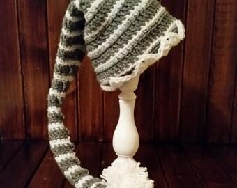 Grey/White Elf Hat
