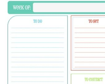 Weekly To Do Sheet