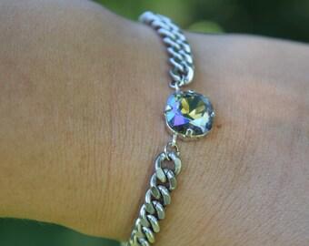 Purple Rain: Vintage crystal bracelet