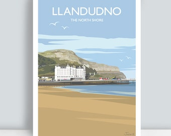 Llandudno, North Wales, The North Shore. Travel Art Print/Poster. PLUS FREE POSTAGE!