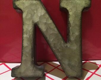 Metal Letter N