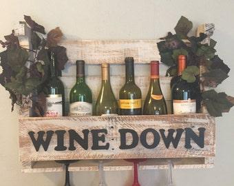 Wine Down wine rack