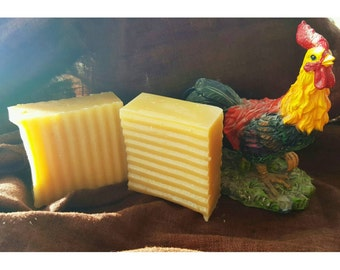Goat milk lemon bar soap 5+ oz bars