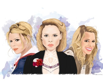Billie Piper Fine Art Print Rose Tyler, Bad Wolf, Lily Frankenstein A3 Doctor Who