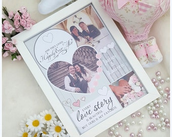 Personalised Wedding Photo Frame*Collage*Bride*Groom*Mr*Mrs*Home*Keepsake*Gift*