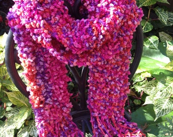 Chunky Fun Hand-knitted Scarf