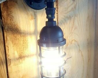 Outdoor Lighting- Outdoor Wall Light Sconce- Iron Pipe Light- Outdoor Sconce- Outdoor Kitchen- Outdoor Patio- Barn light- FREE SHIPPING!