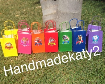 Paw Patrol Candy Bags- Favor Bags or Goody bags  Set of-12