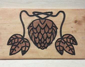Hops Engraving