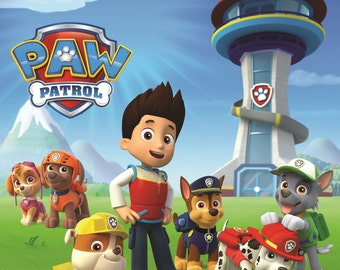 PAW PATROL  personalized Iron On Transfer.