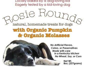 Rosie Rounds Organic Pumpkin & Molasses Dog Treats