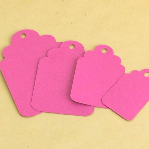 25 scallop tags, hang tags, gift tags, price tags, blank tags, product tags, seller supplies,gift tag