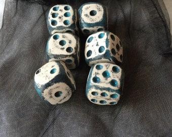 Custom 6 pc D'6 Dice Set/ Gaming Dice Set/Hand Made Dice