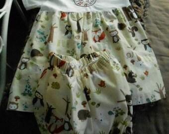 Teeshirt dress with embroidery