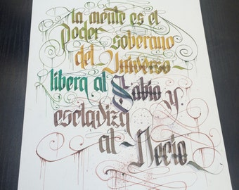 Calligraphy color poster