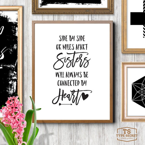 Wall Art Quotes For Sisters : Printable sister quotes sisters quote wall art big