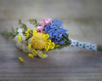 Groom's Dried Flower Boutonniere