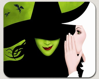 Broadway Musical Wicked mouse pads glinda elphaba defying gravity play theatre mats gift birthday unique mousepads