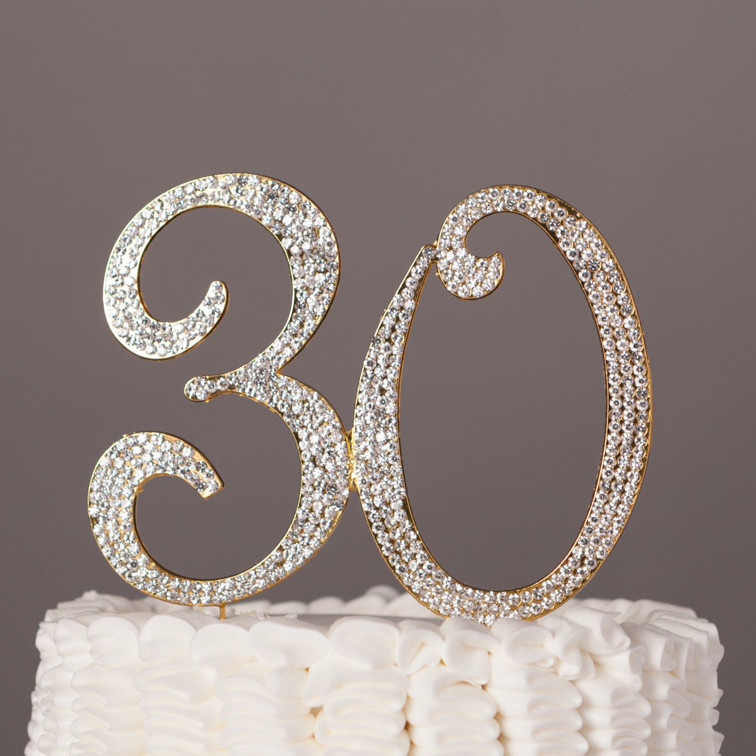 30 cake topper for 30th birthday or anniversary party for 30 cake decoration