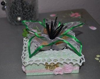 Wedding Decor-box, jewelry box, jewelry box, jewelry box, wooden box vintage