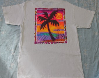Vintage  Hawaii T Shirt by Stedman Super Hi Cru Made in USA Rare