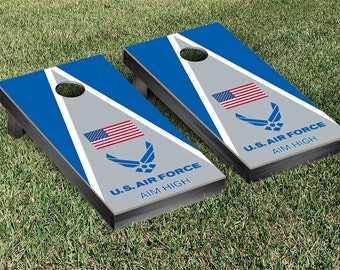 SALE-US Air Force Aim High Cornhole Set,Gifts for Men,Husband,Boyfriend,Father,Son,Birthday,Summer Party,Tailgating