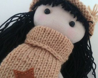 Doll fabric Marietta, dolls, kids, hadmade dolls, clothdolls dollsfor.