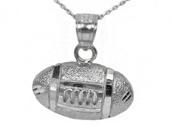 Sterling Silver Football Necklace