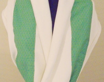 Snood scarf soft & warm white green