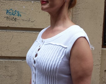 Blouse with buttons closure, buy top female, order, white top