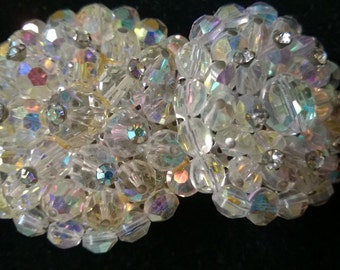 Vintage Glass Beaded Brooches
